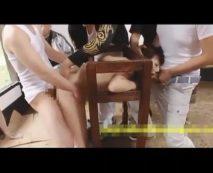 【集団レイプ動画】女を性の道具としか見ていない男達に拘束された状態でイキ狂うほどピストン地獄を味わう...