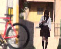 【無修正レイプ動画】学校帰りの女子校生を家までストーキング、管理人を装って家に侵入して無理やり種付け!