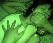 【レイプ動画】暗視カメラ装備で女の子が寝静まった真夜中に家に侵入して溢れる性欲のまま犯し倒す