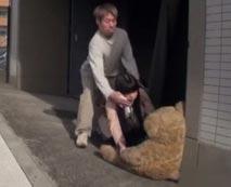【ロリレイプ動画】クマのぬいぐるみをダシに小◯生のような少女を拉致して強姦する犯行記録!