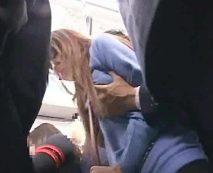 【痴漢レイプ】通勤ラッシュの地下鉄車内で女子大生を強姦!パンスト破いて生チンポぶち込み犯す…